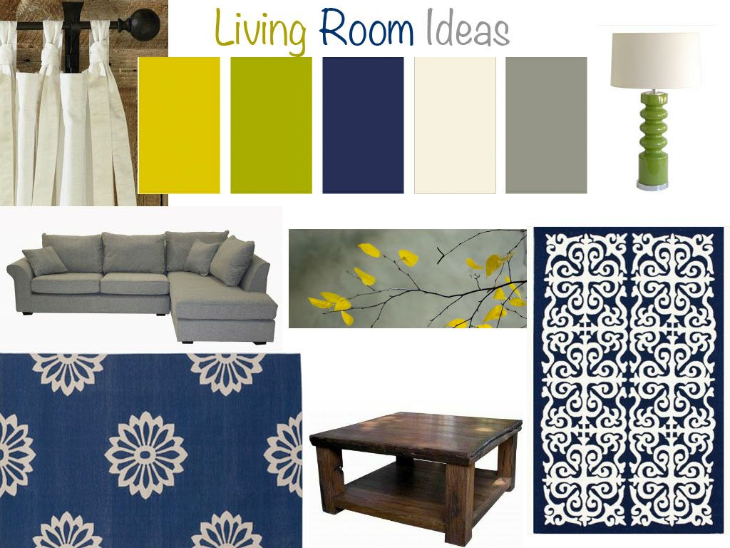 Best Navy Gray And Yellow Living Room Google Search Color 400 x 300