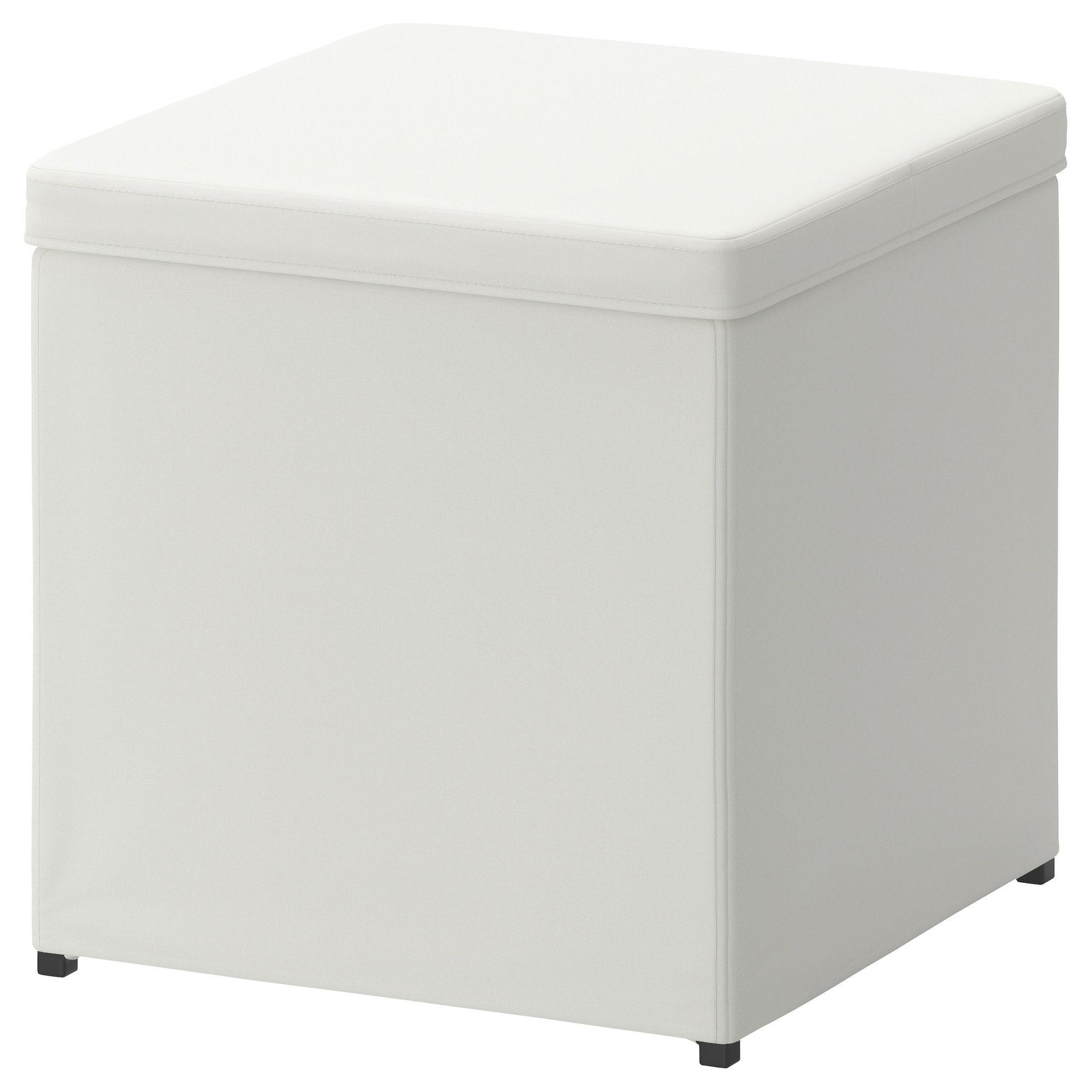 BosnÄs Footstool With Storage Ransta White Ikea