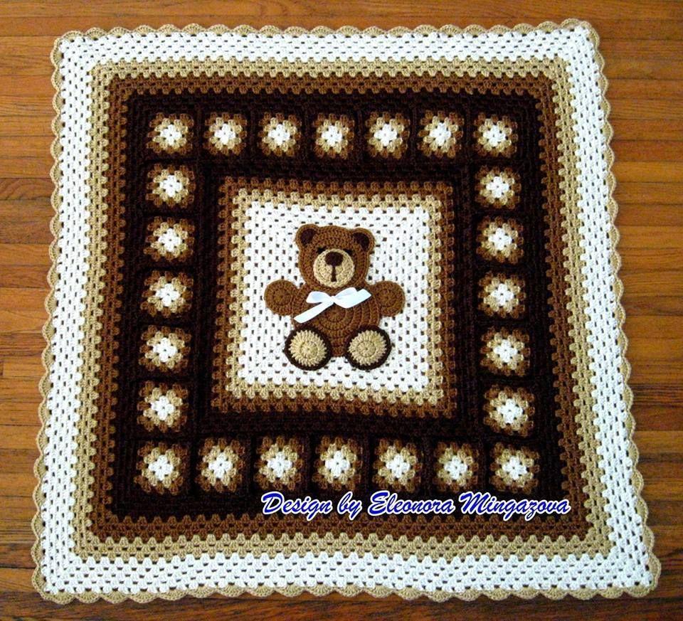 Patrón #1536: Manta Osito a Crochet | Tejido crochet | Pinterest ...