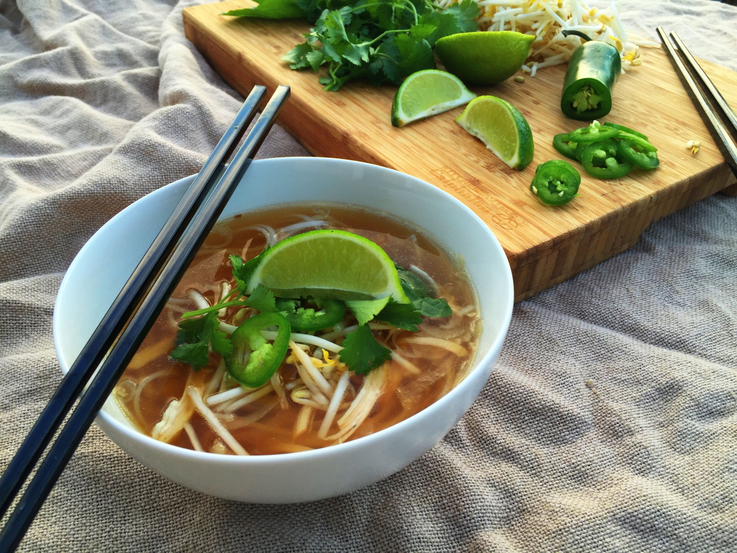 30 Minute Chicken Pho (Noodle Soup) by Eating with a Purpose
