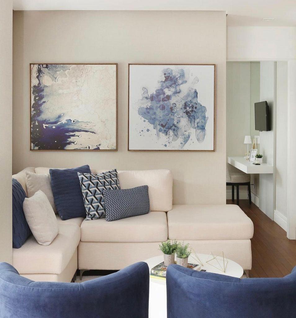 Conhe A Projetos Diferentes Com Paredes E Decora O Com A Tonalidade  -> Decoracao Sala De Jantar Azul