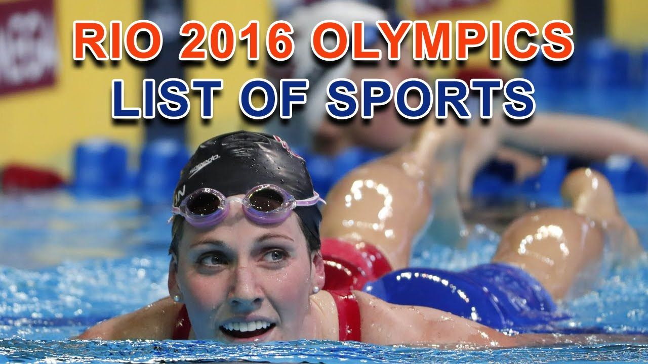 Rio 2016 Olympics List of Sports List of sports