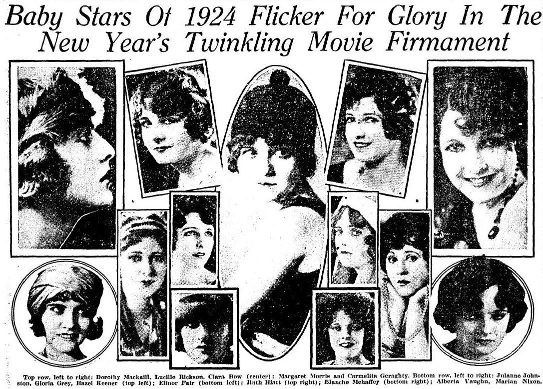 Wampas Baby Stars of 1924 Top row, left to right Dorothy
