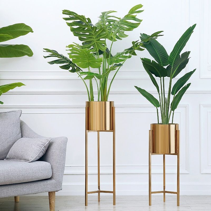 Floor Vase Gold Metal Shelf Vase For Dried Flowers Pots Planters Centerpiece Lobby Home Deco Flower Vase Hot Sale In 2020 Large Floor Vase House Plants Decor Floor Vase #standing #vase #for #living #room