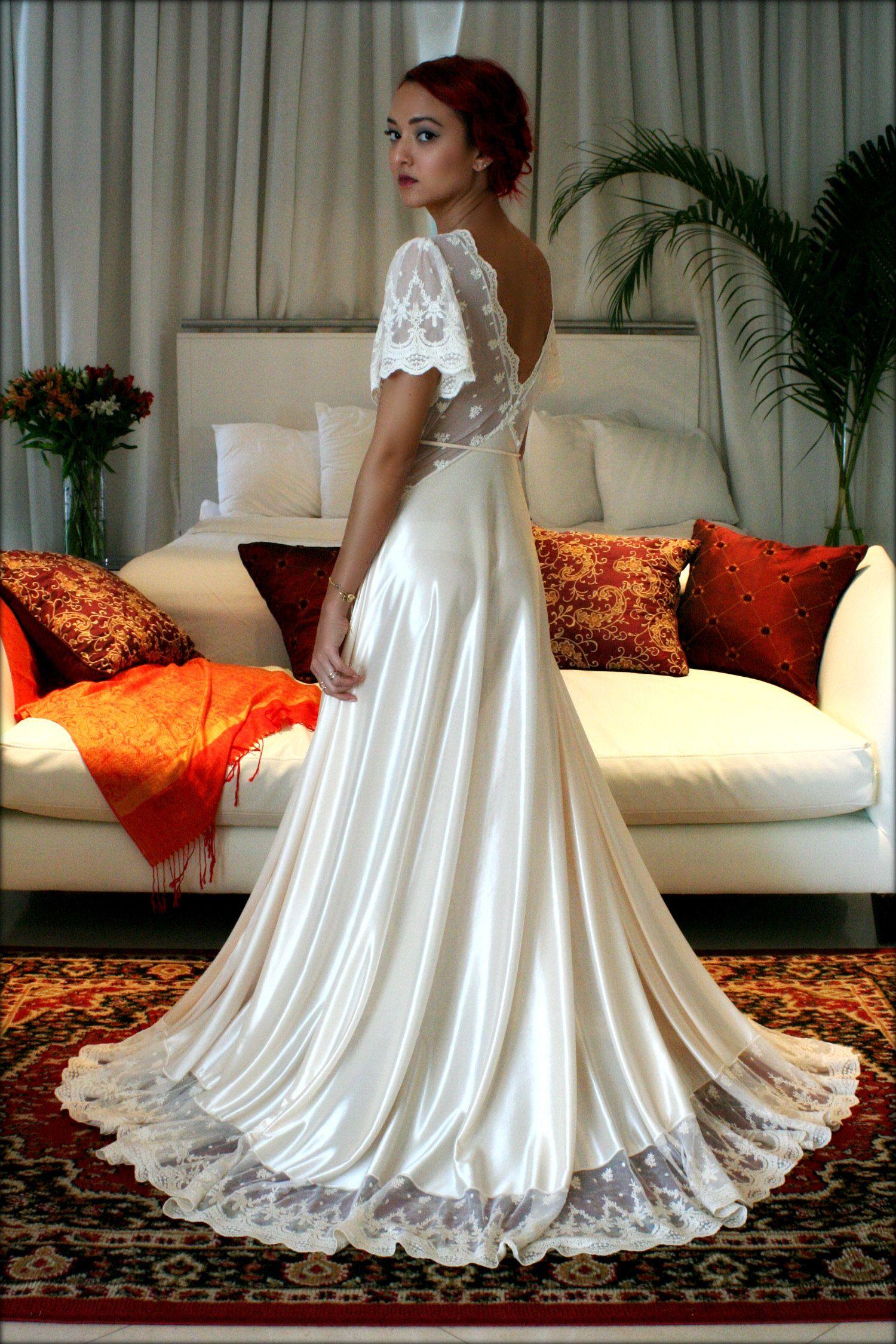 Amelia Satin and lace bridal gown. Sarafina Dreams 2016 Prima ...