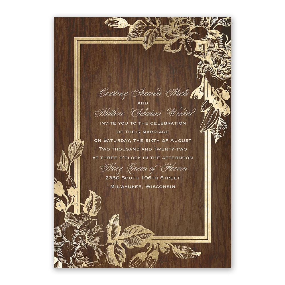 Wedding Venues Near Me Cheap: Invitation With Free Response Postcard In