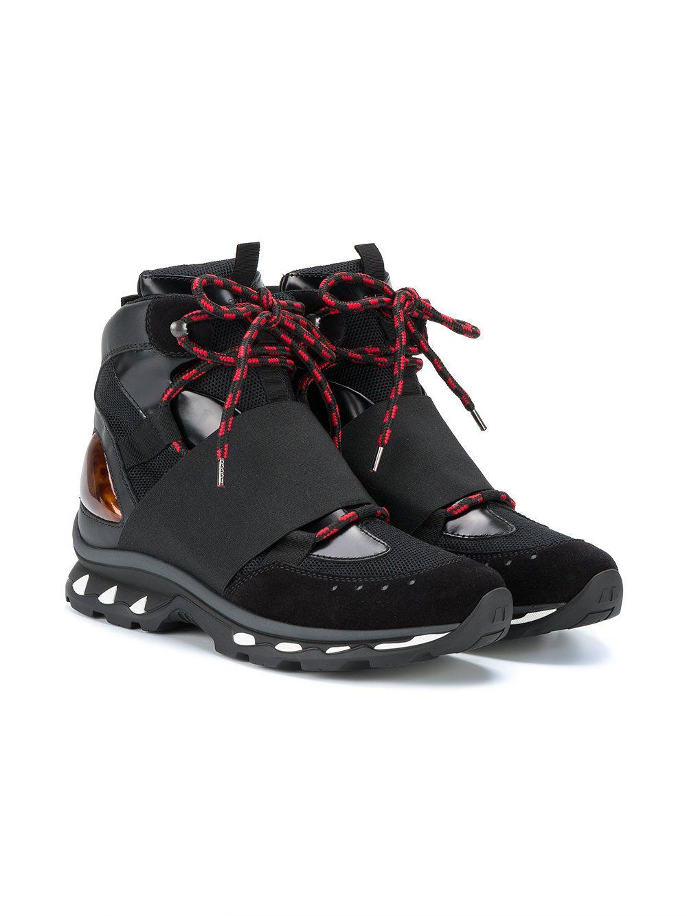 Givenchy Tênis 'Trail Boot' de couro e camurça
