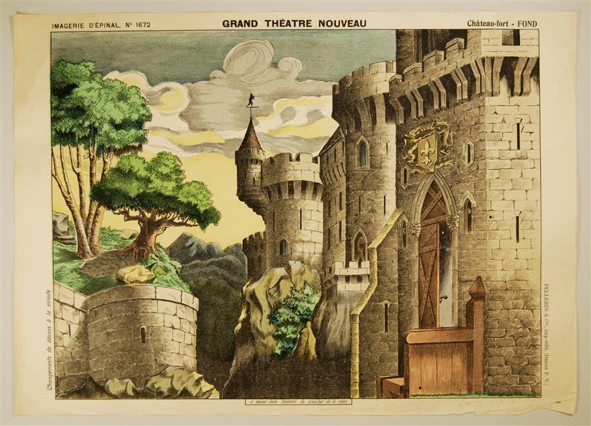 Imagerie dépinal no 1672 grand théâtre nouveau château fort