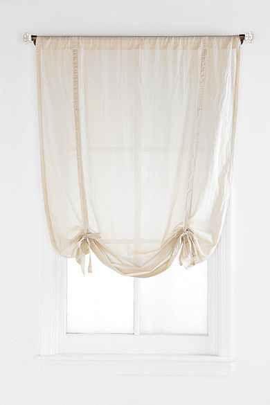 Draped Shade Curtain Dorm Pinterest