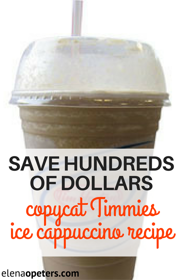 3 Ingredient Ice Cappuccino Just Like Timmies | Recipe ...