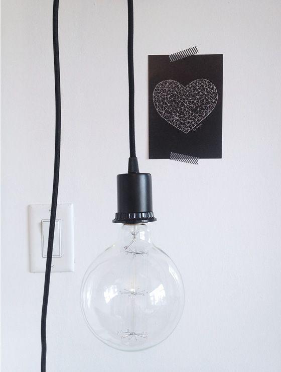 hanging globe light lighting pinterest applique murale design design pas cher and. Black Bedroom Furniture Sets. Home Design Ideas