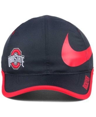 Nike Ohio State Buckeyes Big Swoosh Adjustable Cap - Black Adjustable