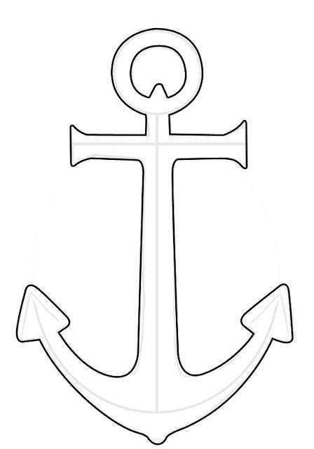 image regarding Printable Anchor Stencil referred to as Attract an Anchor Outlines Anchor drawings, Anchor stencil