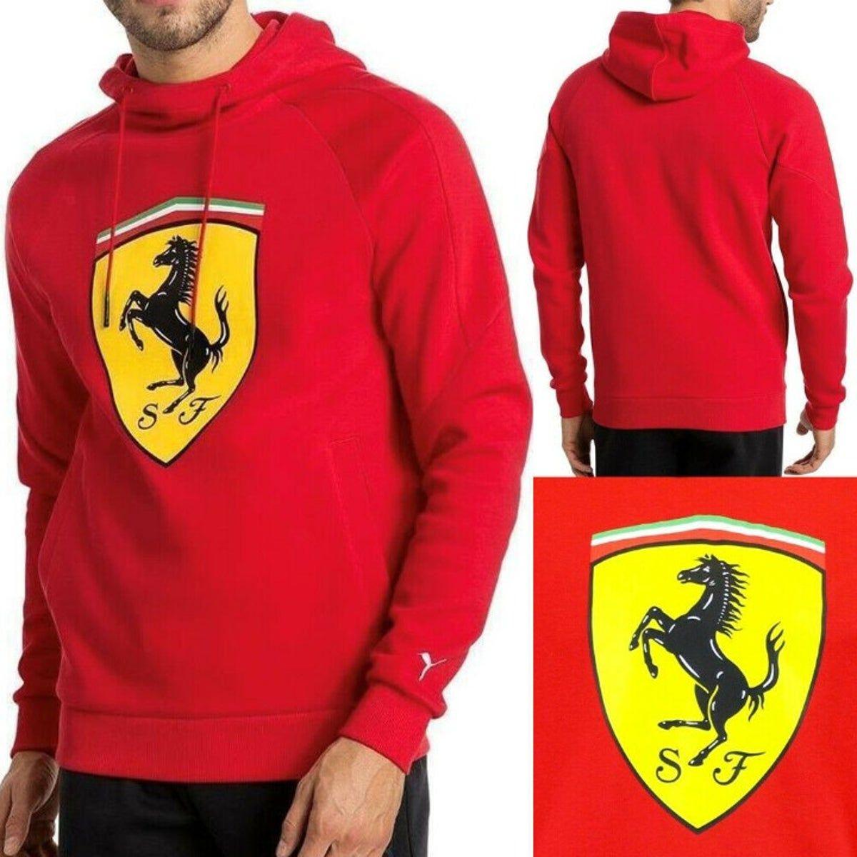 Puma Ferrari 7621340 Men S Shield Hoodie In 2021 Hoodies Mens Sweatshirts Pullover Hoodie