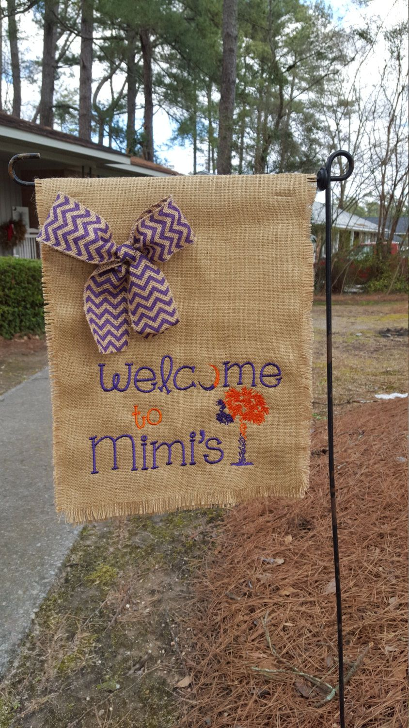 Garden Flag, Hostess Gift, Mimi\'s Flag, Mother\'s Day Gift, Burlap ...