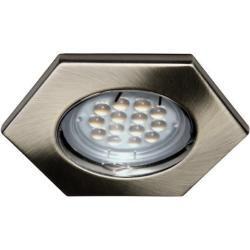 Photo of C-Light GmbH 12 V – 3er Led Spot Set 6-Eck altmessing / 5 W Hl / Kabel + 20W Trafo-at C-Light GmbH
