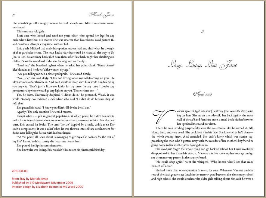 Book Design with Microsoft Word: The Art of Moriah Jovan   Microsoft ...