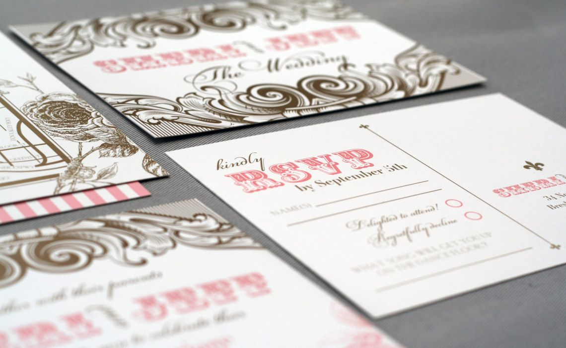 ticket-style invitation with tear-away RSVP Card | Awesome ...