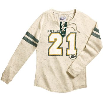 Green Bay Packers Women's Kickoff Lace Up T-Shirt
