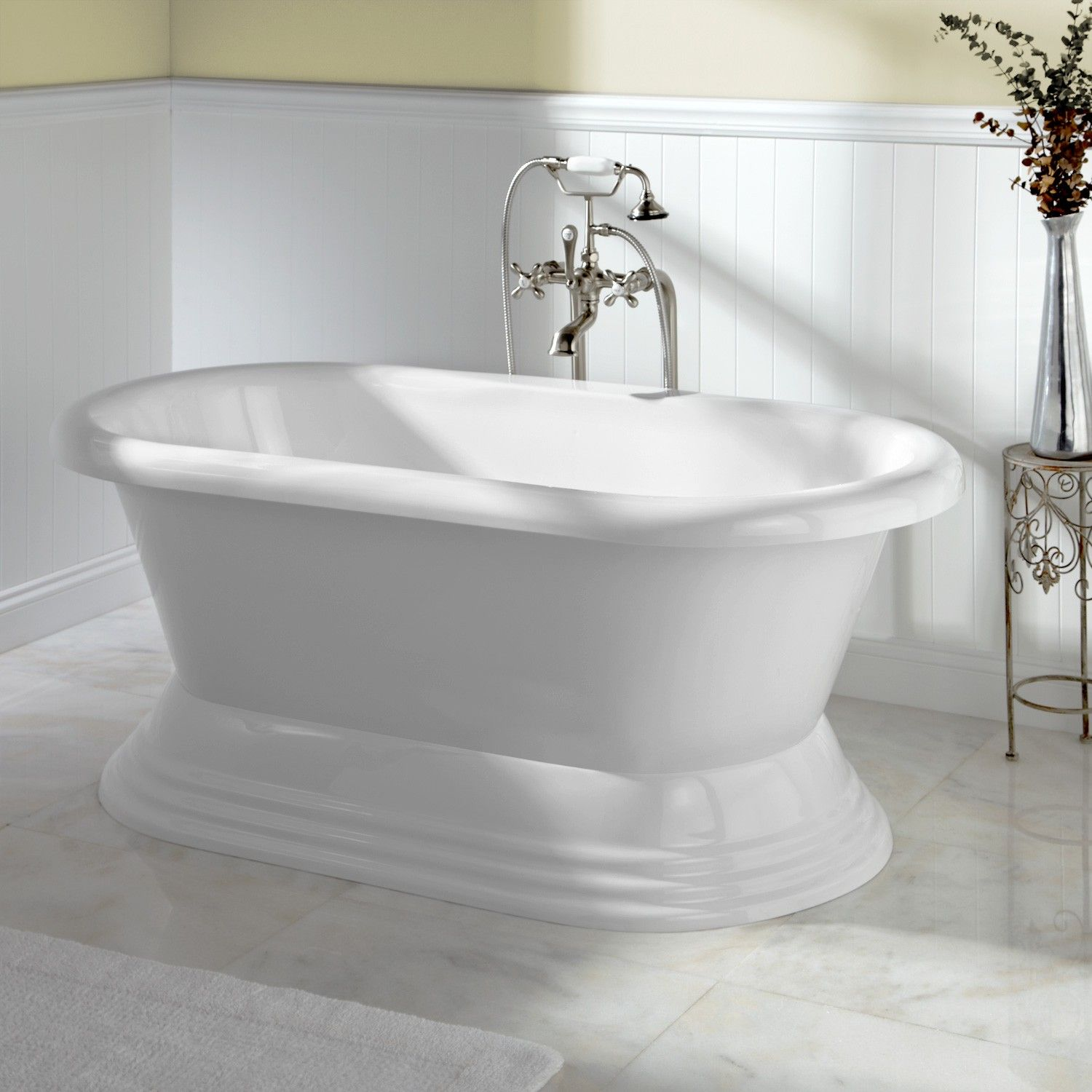Barkley Acrylic Freestanding Pedestal Tub - Bathtubs - Bathroom ...