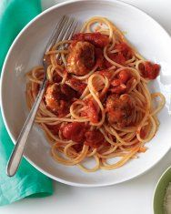 Spaghetti Squash with Turkey Meatballs