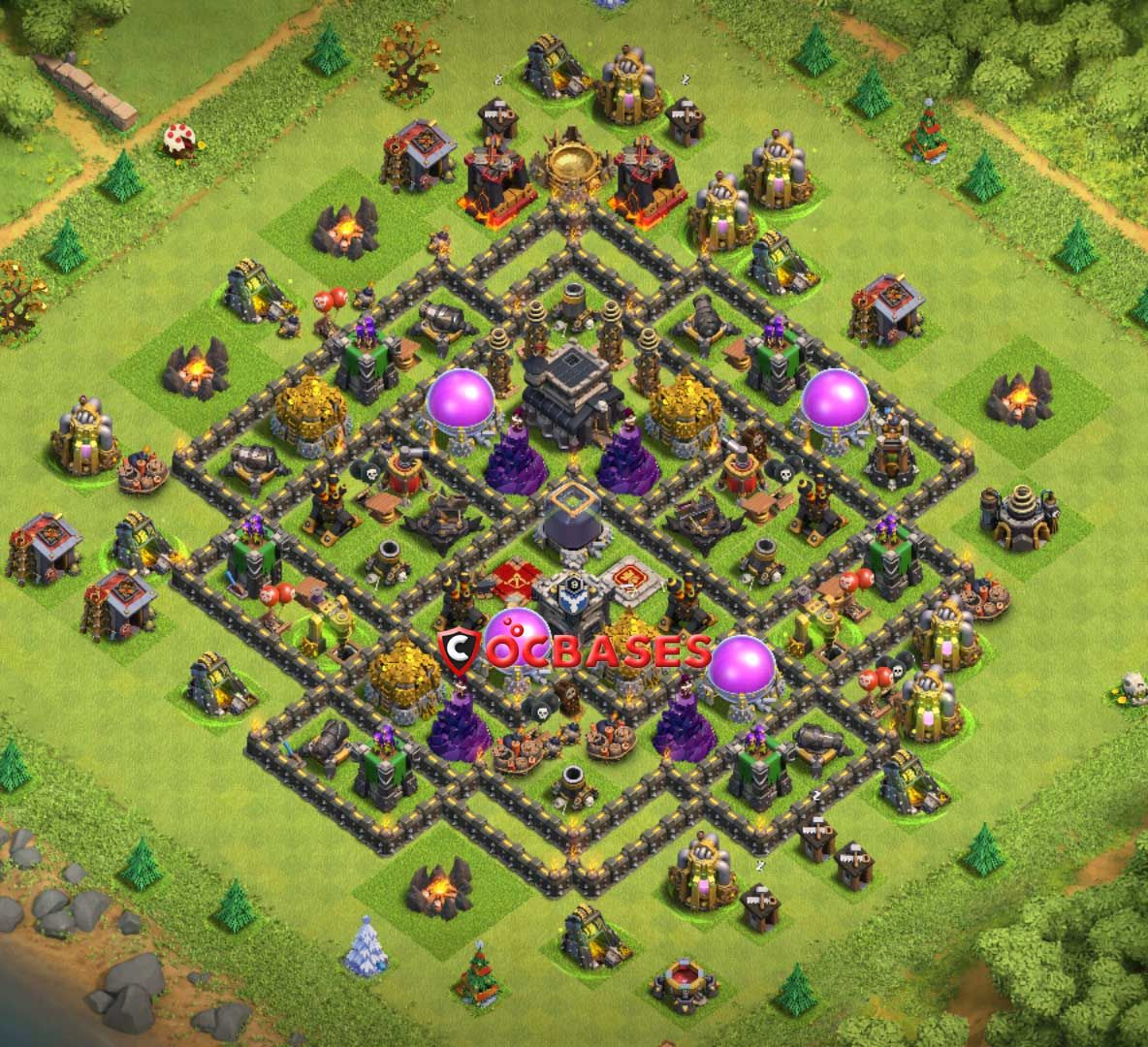 10+ Best TH9 Farming Base ** Links ** 2020 Anti Everything