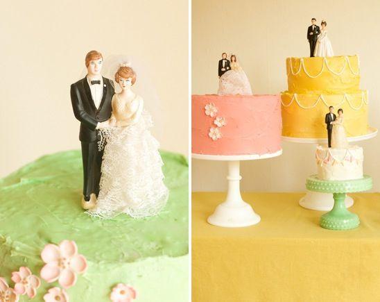 Vintage Wedding Cake Toppers