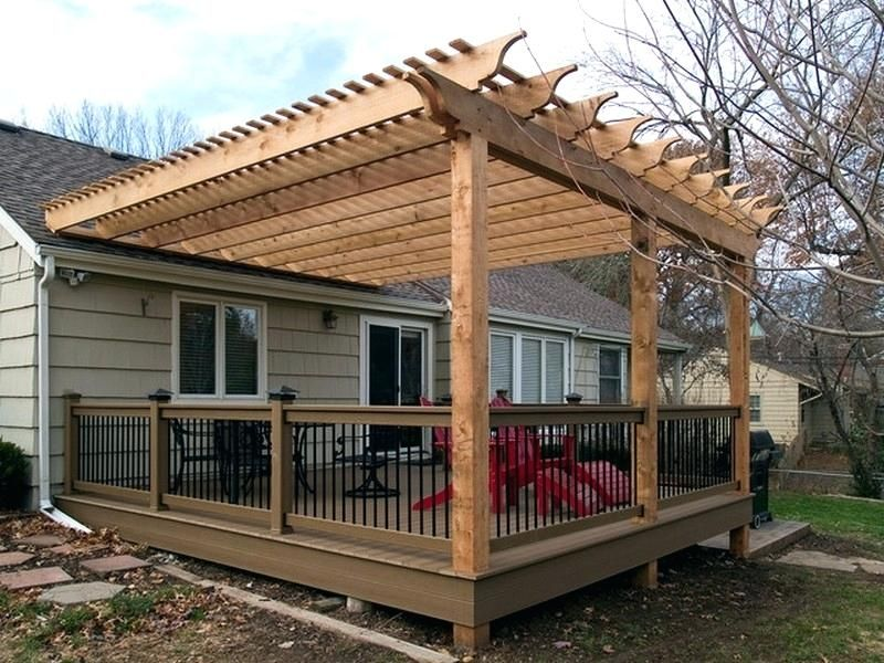 Not The Most Attractive But It S Hooked To The Roof Somehow Backyard Pergola Pergola Plans Building A Pergola