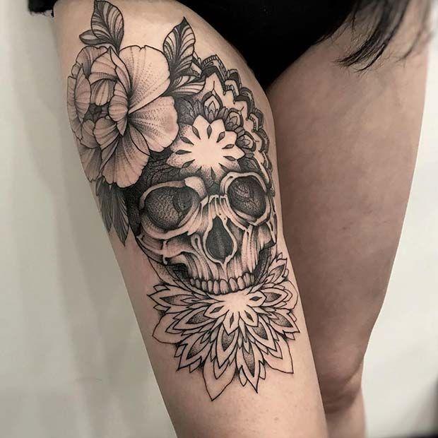 Photo of 65 Badass Thigh Tattoo Ideas for Women