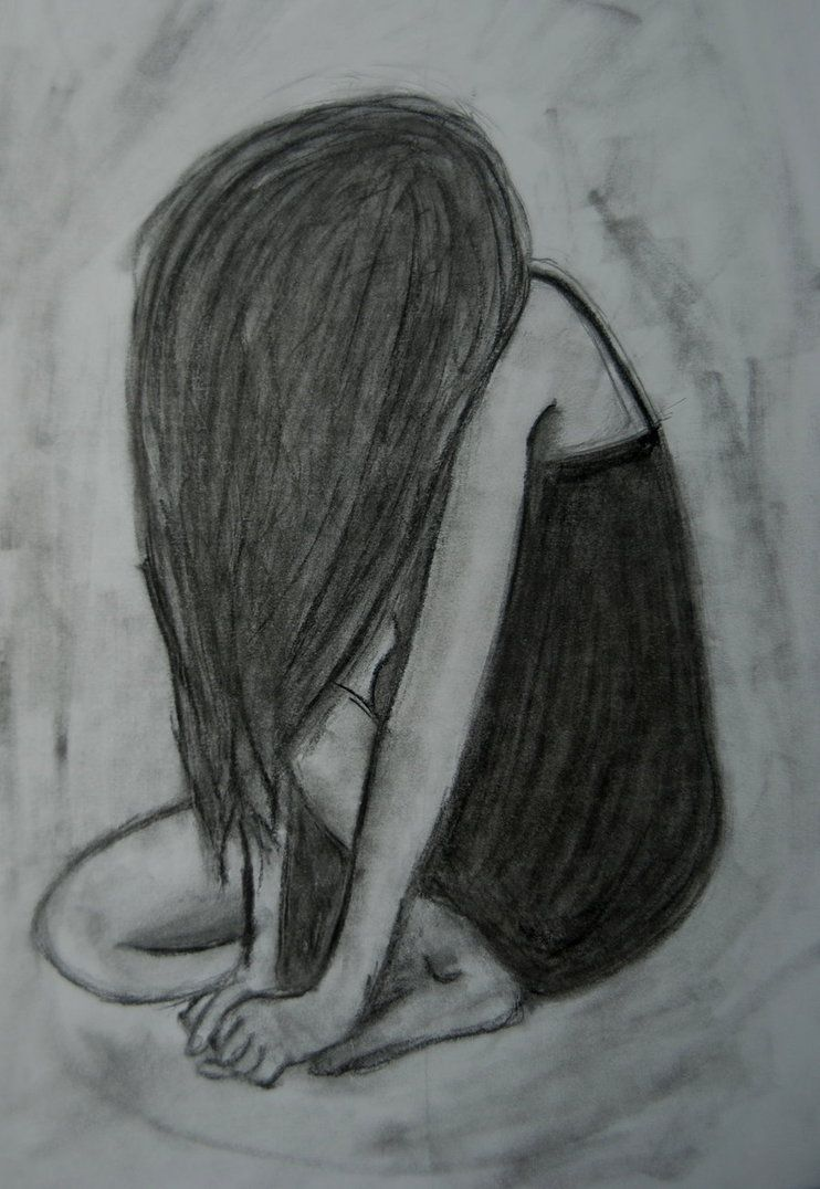Drawing of sad girl sitting galleryhip com the hippest galleries