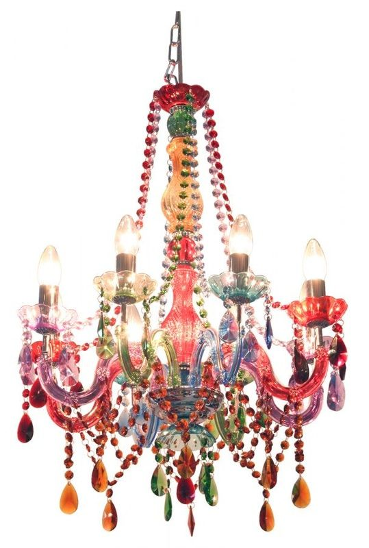 Colorful Chandelier From Silly Chandeliers