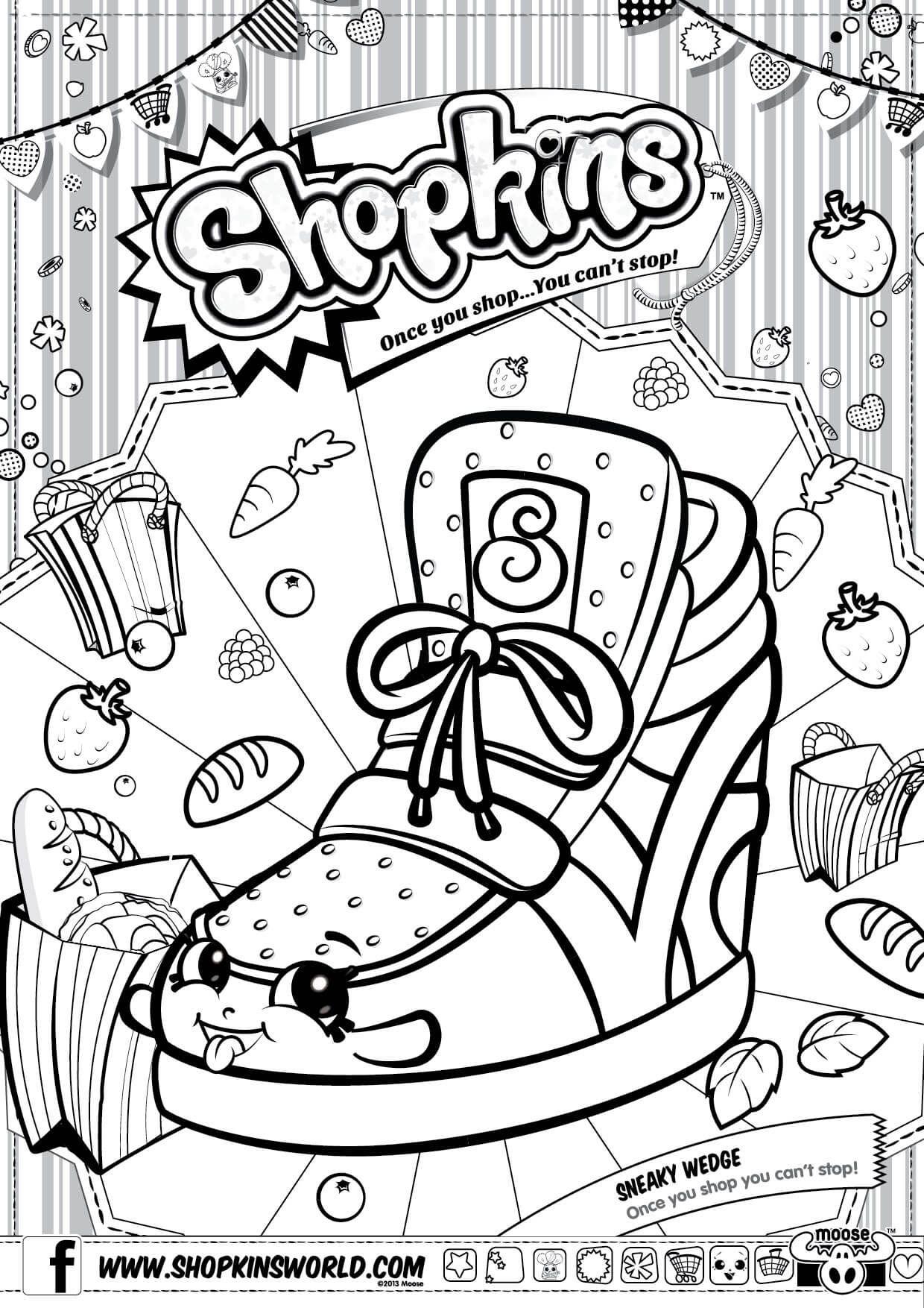Shopkins Printable Shopkins Colouring Pages Shopkin Coloring Pages Coloring Books