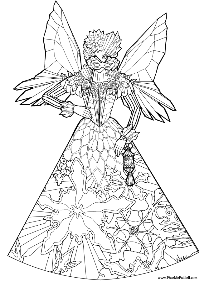 printable colouring pages coloring pages for children is a wonderful activity that encourages children to - Fairy Coloring Page