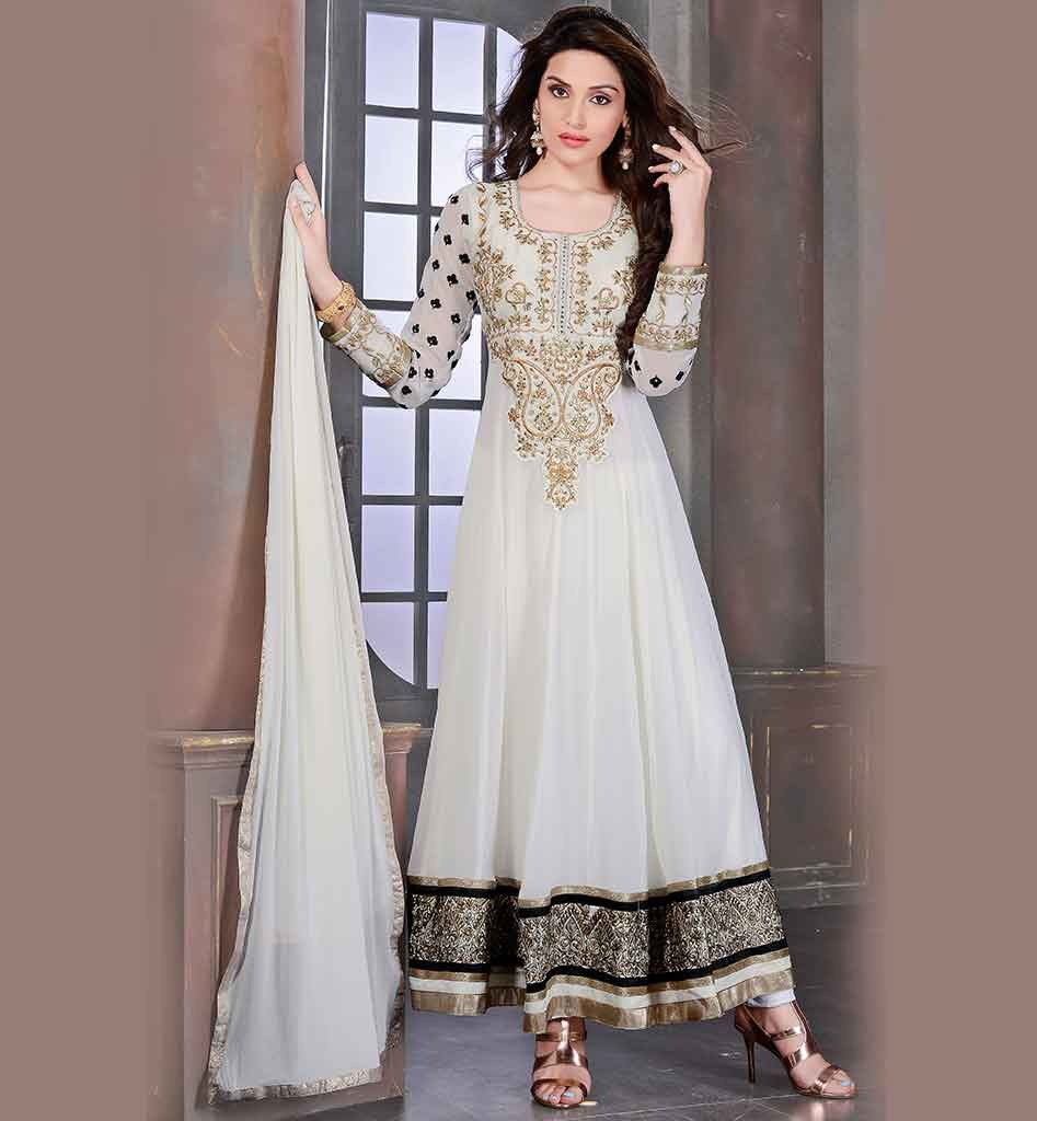 Bollywood fashion party wear anarkali dress online shopping india ...
