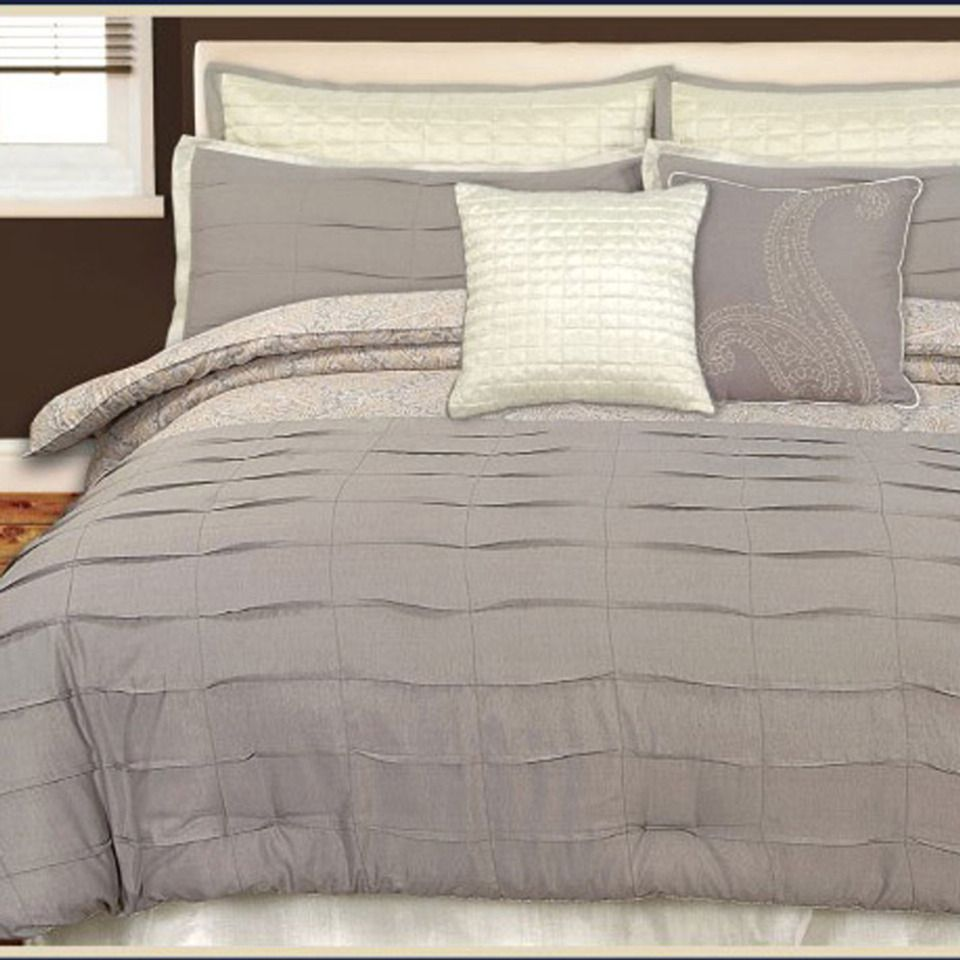 us polo 8 piece harlow neutral paisley bed set in gray gold beyond the rack home styling. Black Bedroom Furniture Sets. Home Design Ideas