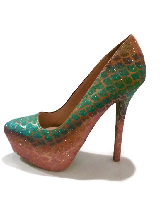 Glitter Heels   Mermaid Glitter Heels   Mermaid Scale Pumps   Glitter  Wedding Heels   Women s Shoes 4bf9e7c91