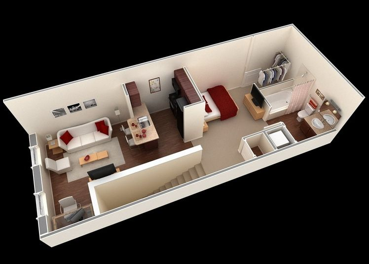 We Feature 50 Studio Apartment Plans In Perspective. For Those Looking For  Small Space Apartment Plans, Your Search Ends Here. Part 61