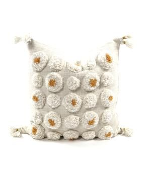 This handmade boho pillow will add character to any space.  Made from cotton making it extremely soft and cozy!  Dimensions: 18