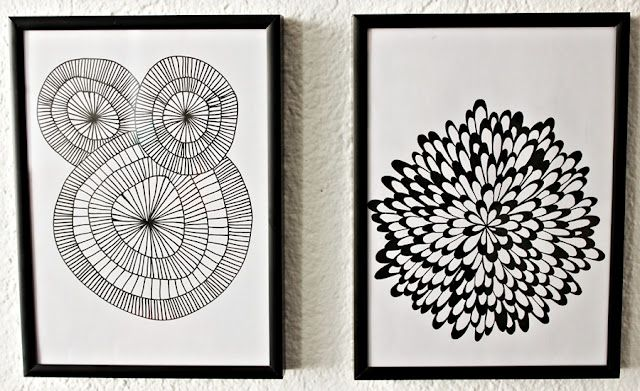 DIY on building doodle wall art - needs translated from danish