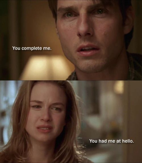You Complete Me You Had Me At Hello Jerry Mcguire Romantic Movie Scenes Romantic Movie Quotes Favorite Movie Quotes
