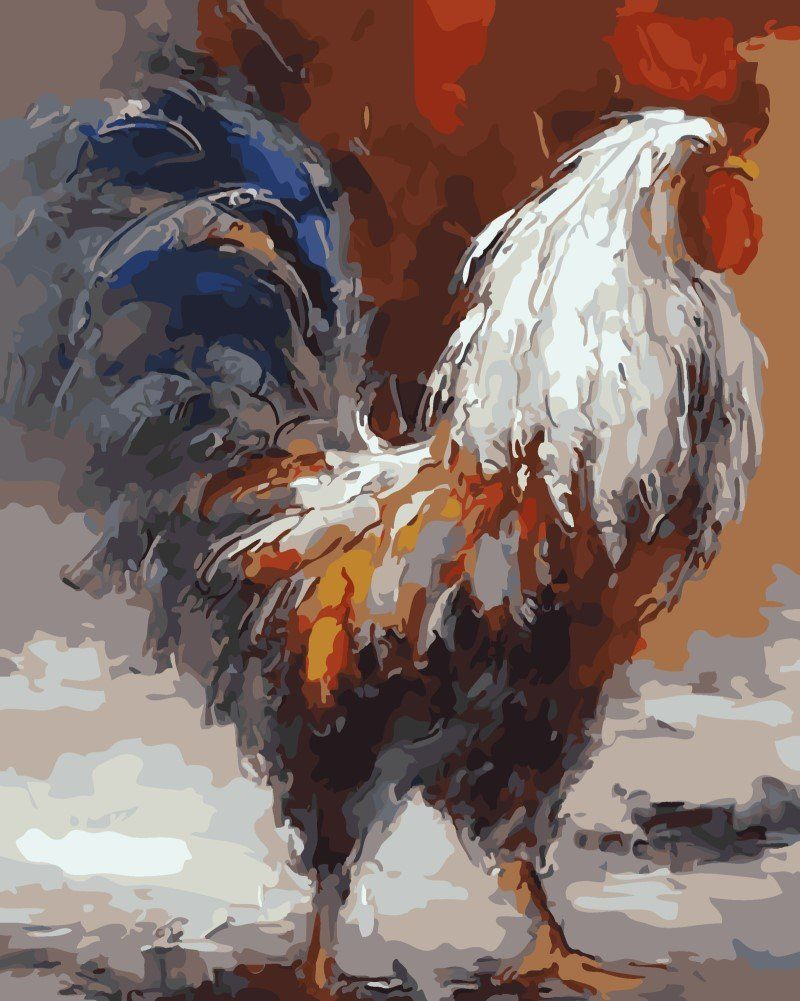 Rooster Paint By Number Kits • Paint By Number For Adults