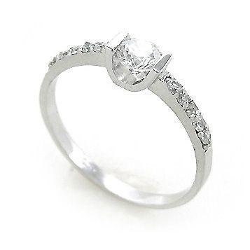 Bague mariage argent diamant