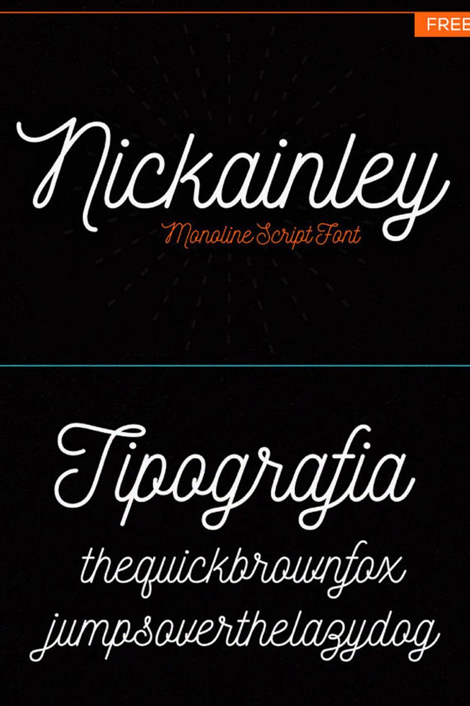 Nickainley Monoline Script Free Commercial Font in 2020