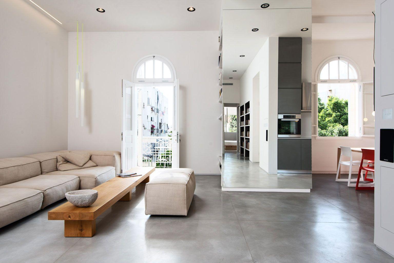 Tel Aviv Flat By Chiara Ferrari Studio 9 Homedsgn Decor Design Concrete Floors Living Room Modern Apartment Design
