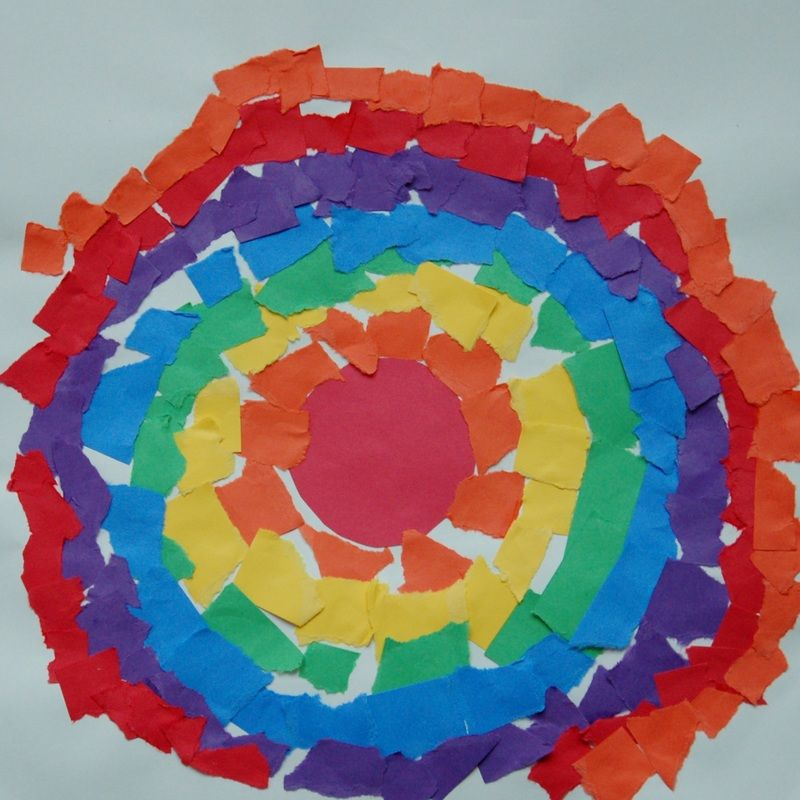 Elementary Art Element Of Art Color Torn Paper Rainbow Color