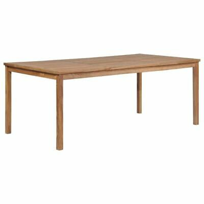 This Solid Teak Wood Dining Table With A Water Based Finish Will Add A Touch Of Natural Charm To Your Kitch Outdoor Dining Table Wood Dining Table Dining Table