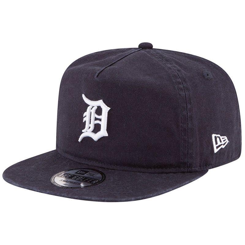 Detroit Tigers New Era Team Washed A-Frame Adjustable Hat - Navy ... 067eb2087df2