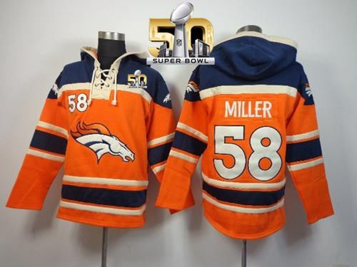 promo code 92d43 f7df2 Denver Broncos #58 Von Miller Orange Super Bowl 50 Sawyer ...