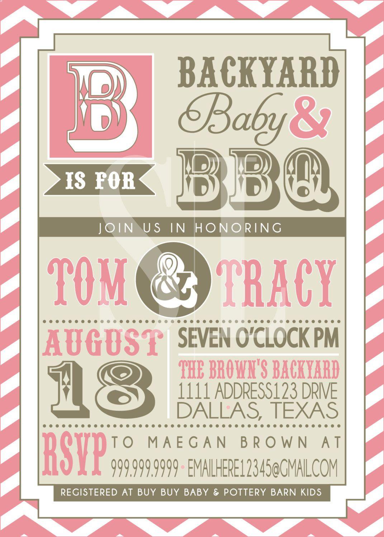S Bbq Baby Shower Invitation By Sldesignteam On Etsy