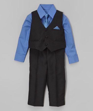 This Blue Four-Piece Vest Set - Infant, Toddler & Boys by Shanil is perfect! #zulilyfinds
